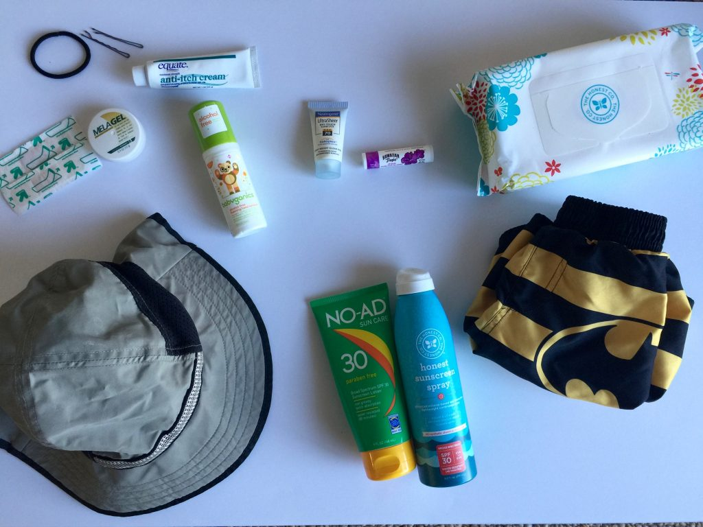 Contents in the boat bag