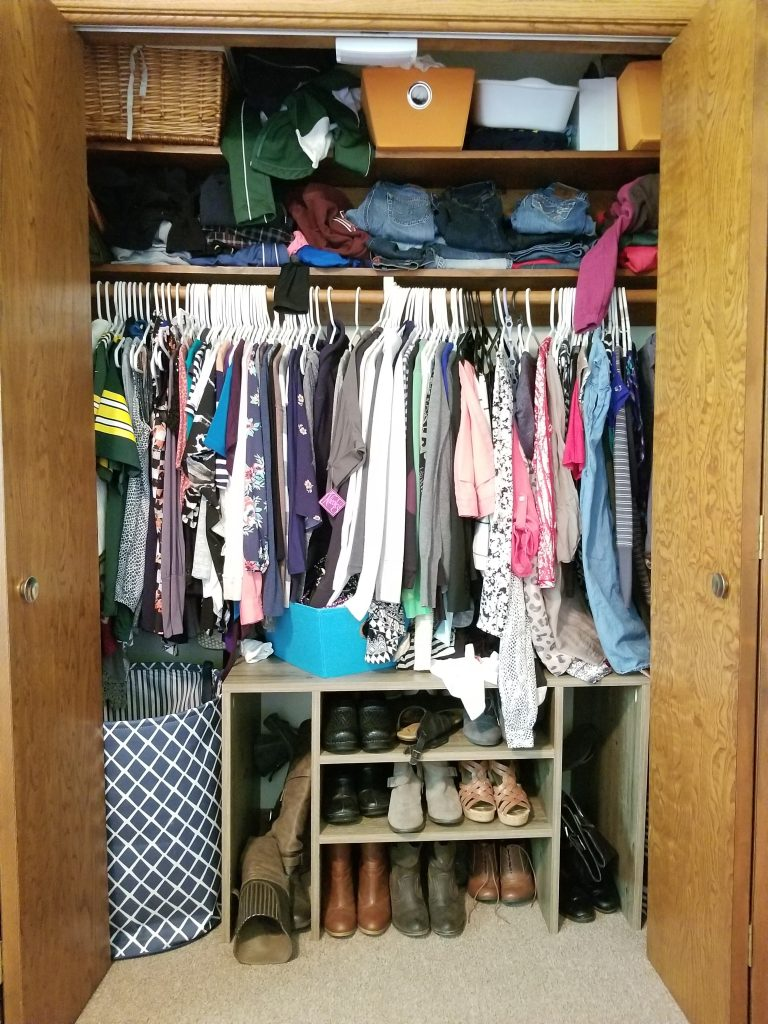 Messy Closet Before
