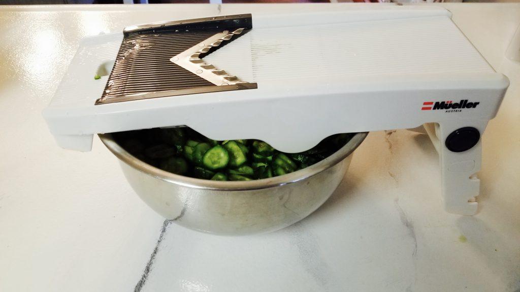 Mandolin Slicer used for Refrigerator Pickle
