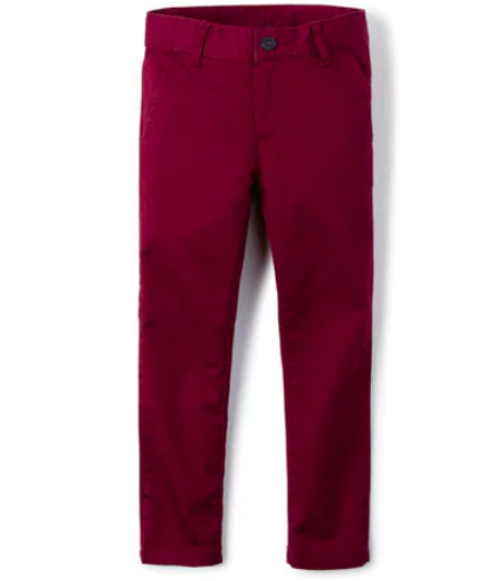 Back to School Clothes - Red Chino Pant