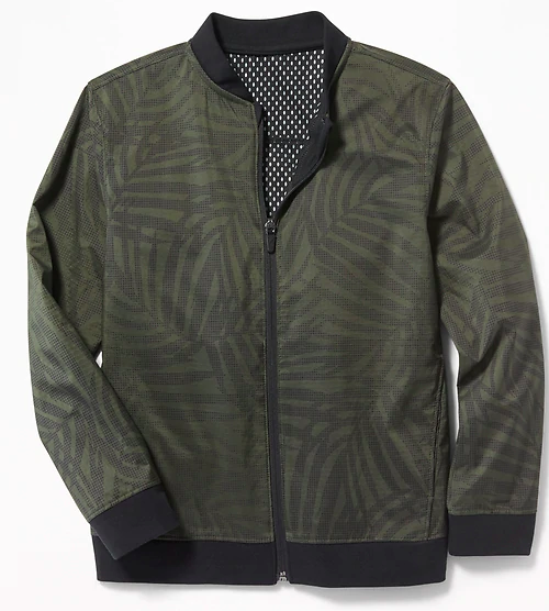 Back to School Clothes - Olive Green Bomber Jacket