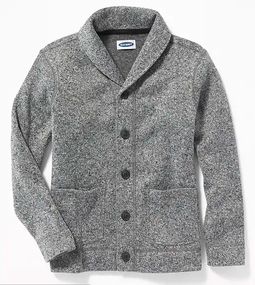 Back to School Clothes - Little Boys Gray Cardigan