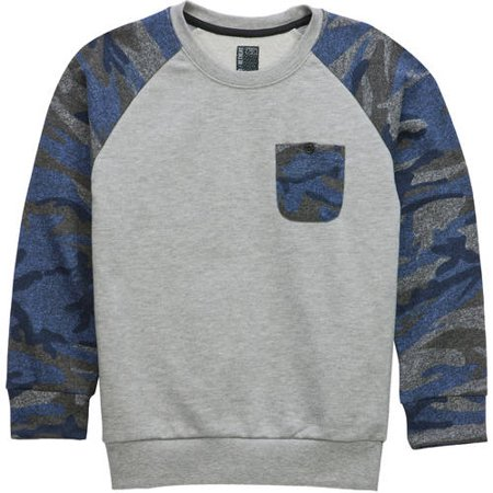 Back to School Clothes - Camo Print Graphic Sweatshirt