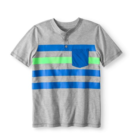 Back to School Clothes - Striped Henley T-Shirt
