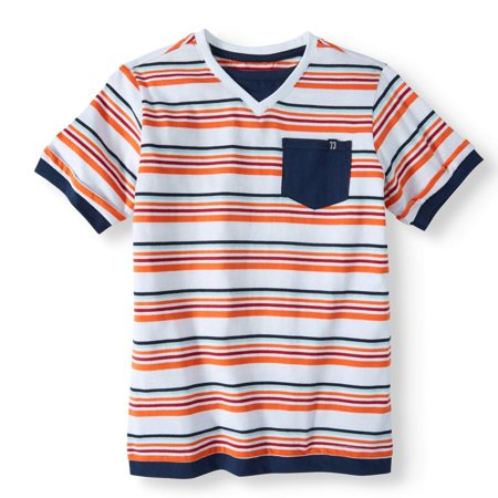 Back to School Clothes - Orange Striped T-Shirt