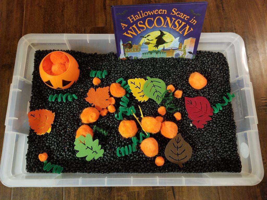 Pumpkin Sensory Bin 2
