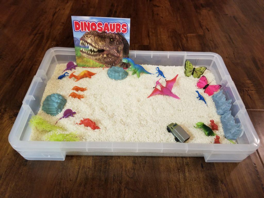 Dinosaur Sensory Bin
