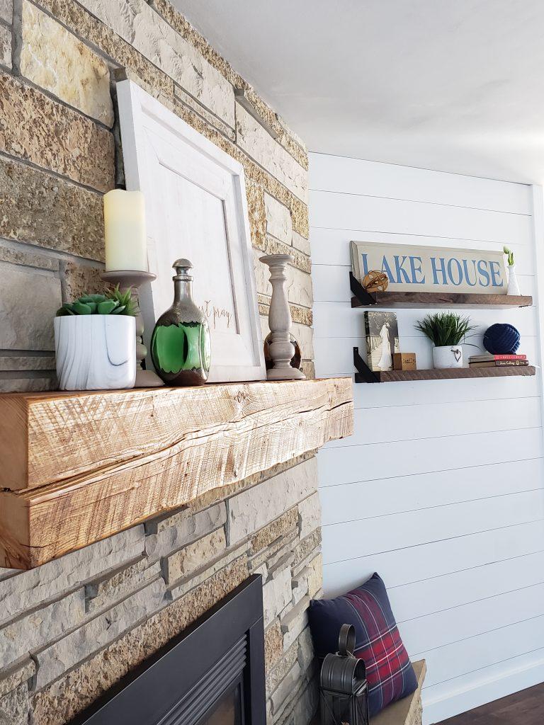 Mantel and shelves