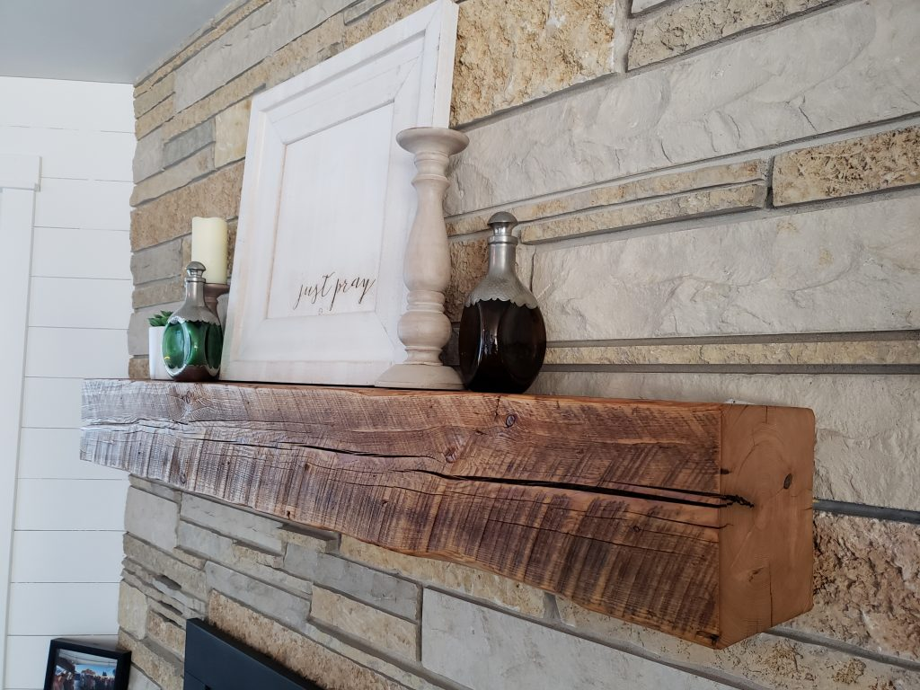 Diy Fireplace Mantel From A Barn Beam Mk Creations