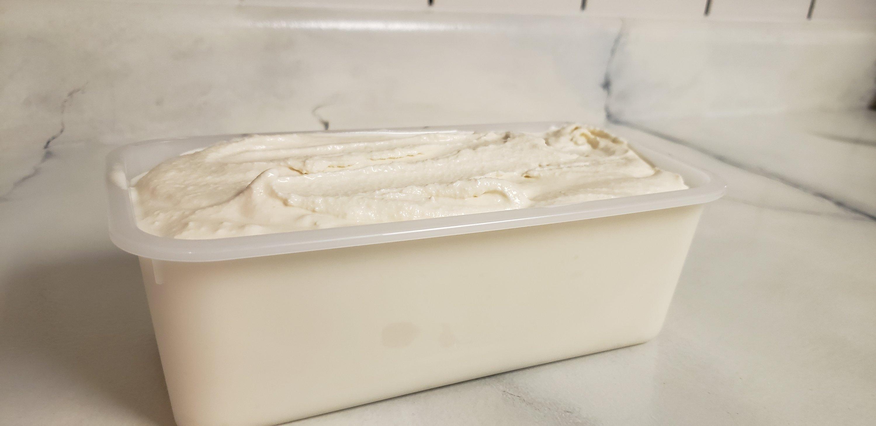 Ice cream in the container