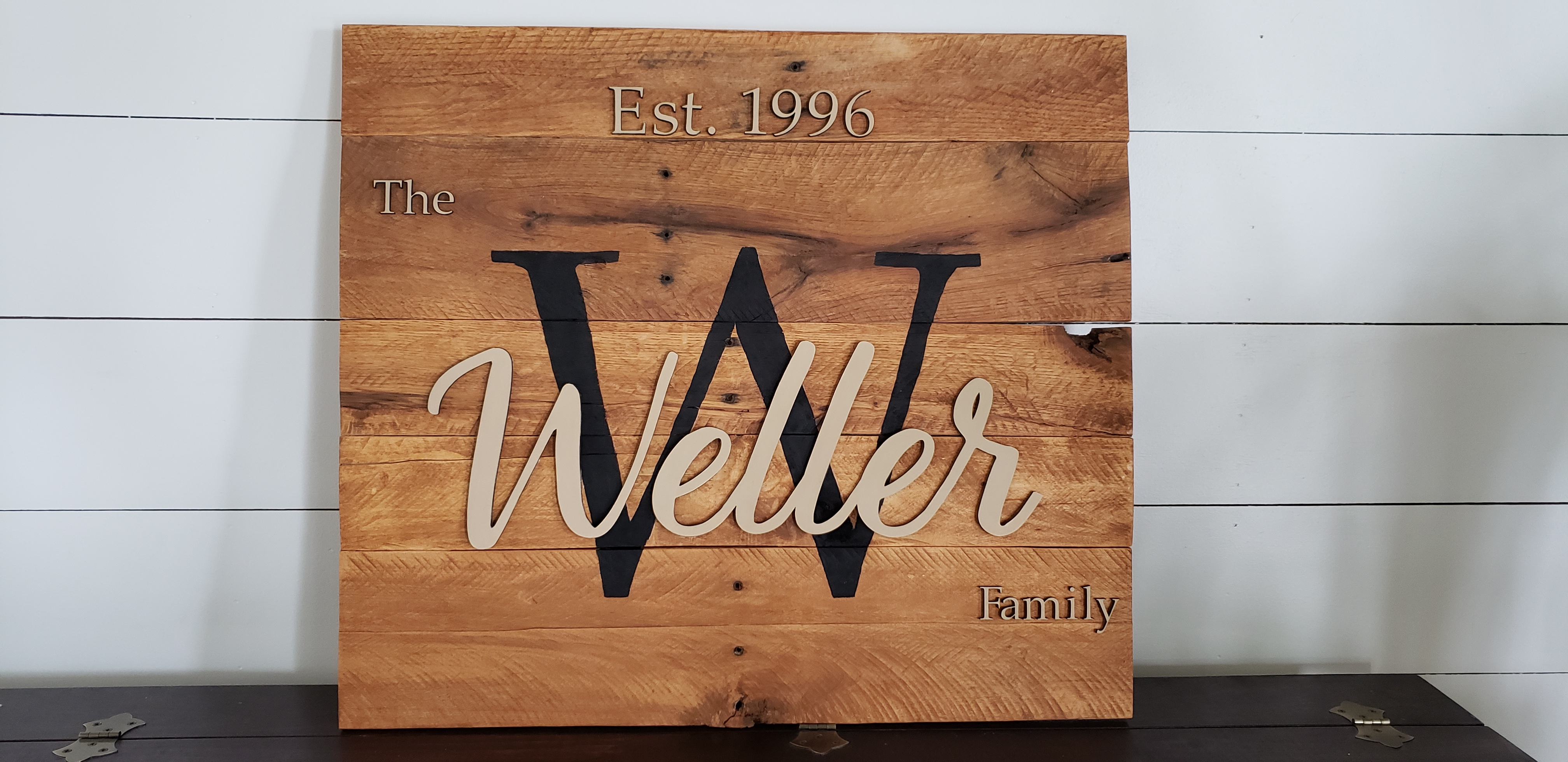 Raised Name Sign Made with Glowforge