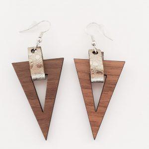 Triangle Wood Earring