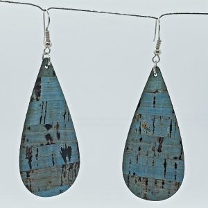 Jade color cork earrings