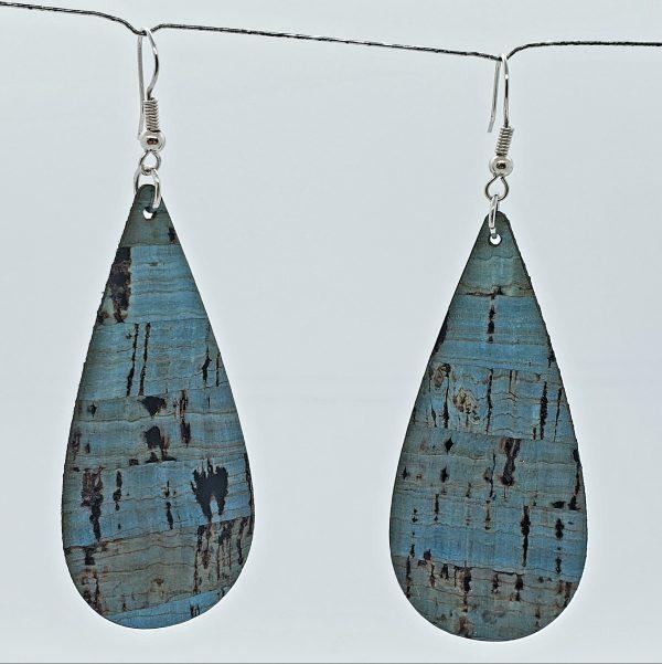 Jade color cork earrings