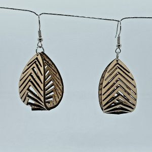 Sculpted Leather Earrings