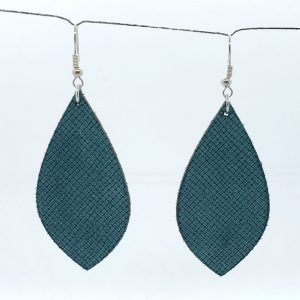 Sage Green Cross-Hatch Earring