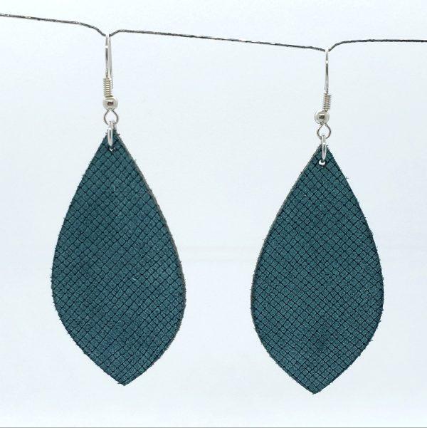 Sage Green Cross-Hatch Earring