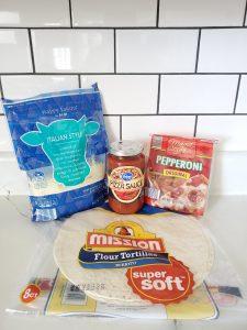 Pizza Quesadilla Ingredients